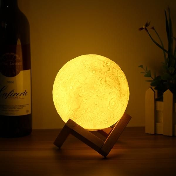Αποτέλεσμα εικόνας για 15cm Magical Tap Sensor Moon Lamp USB Charging Rechargable Luna LED Night Light Gift