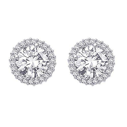 Color IJ, Clarity I1 KATARINA Diamond Earring Jackets in 14K Gold 3//4 cttw