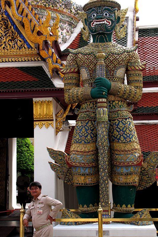Two guards - Grand Palace, Bangkok
