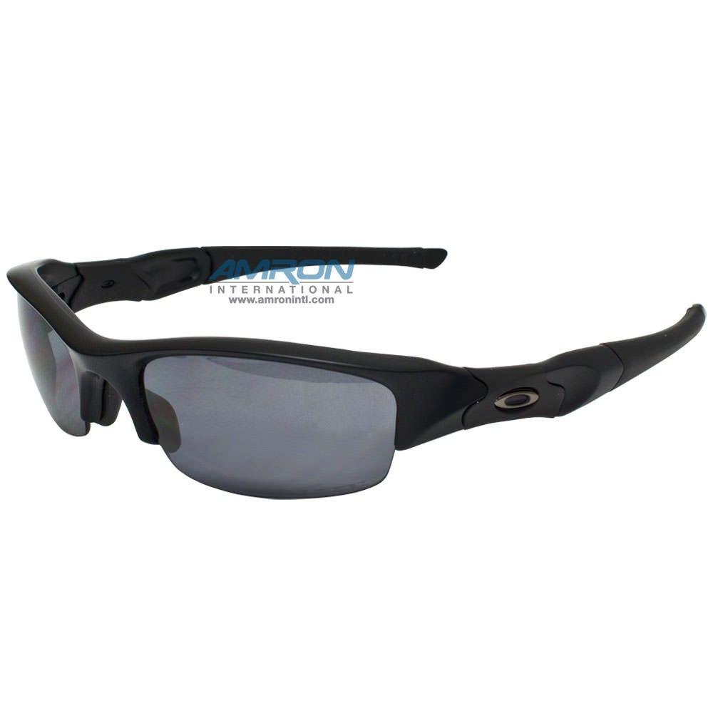 813e3ad832 Oakley SI Flak Jacket Polarized Sunglasses - Matte Black Frame with Grey  Lens…