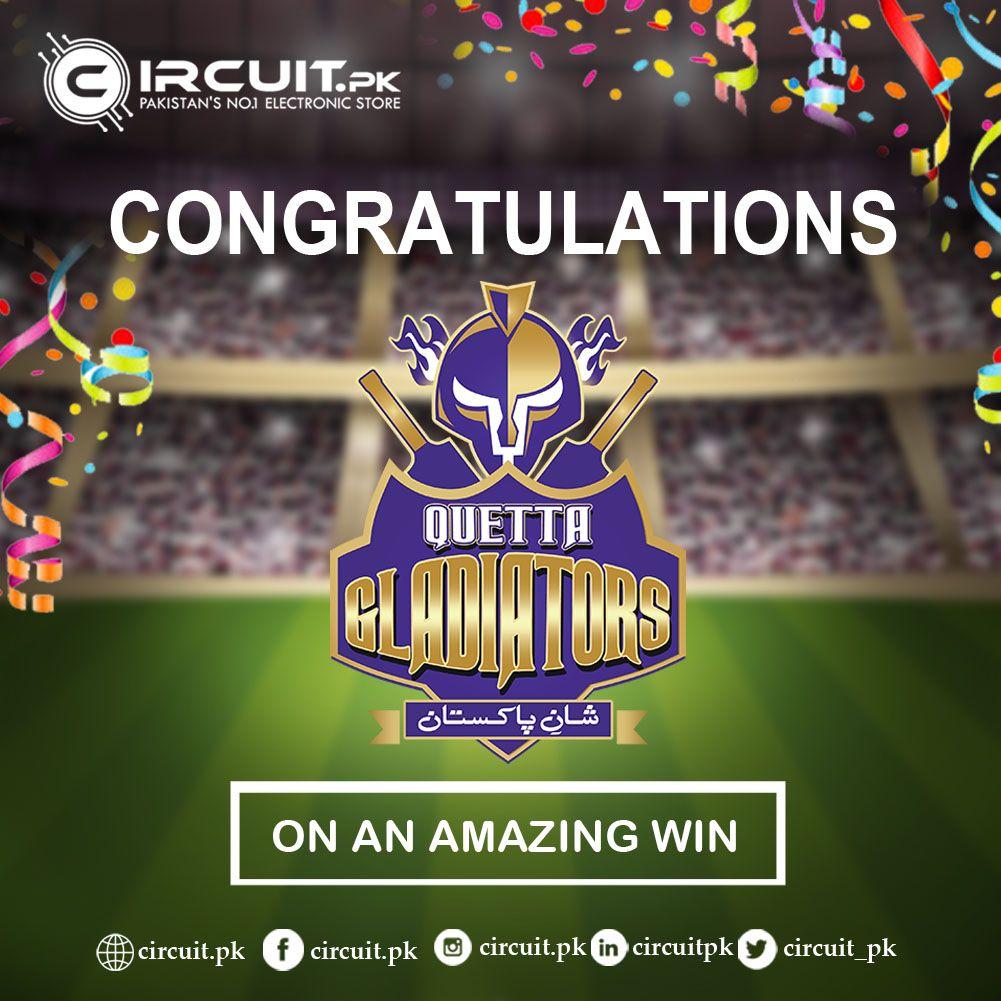 Congratulations Quetta Gladiators Website Www Circuit Pk Call