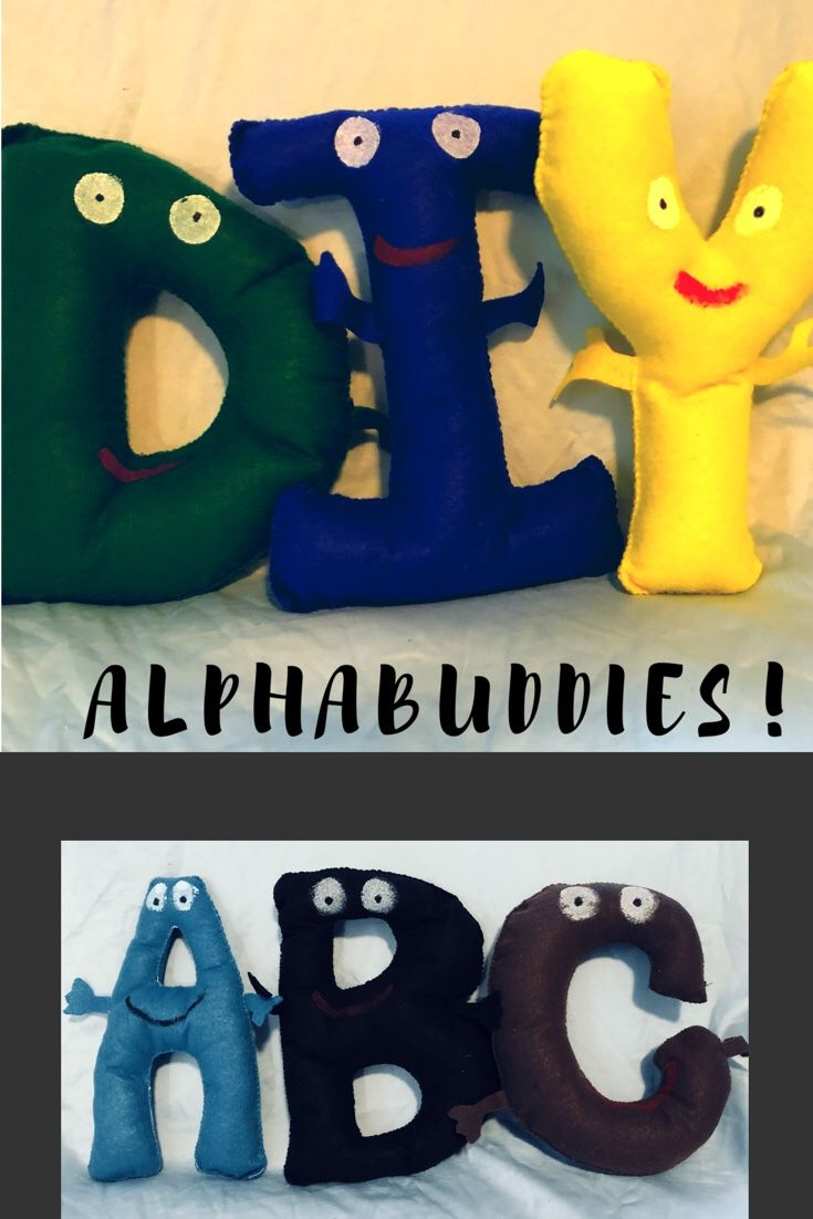 7225b973976 DIY AlphaBuddies are a fun homemade toy that encourages early literacy and  learning the alphabet through play! It s a fun felt cra…