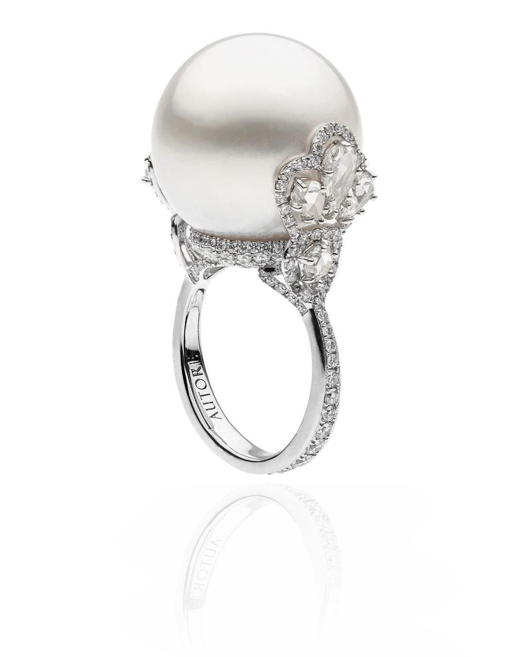 Rosamaria G Frangini  High Pearl Jewellery  Tjs  Autore Ring  18k White  Gold