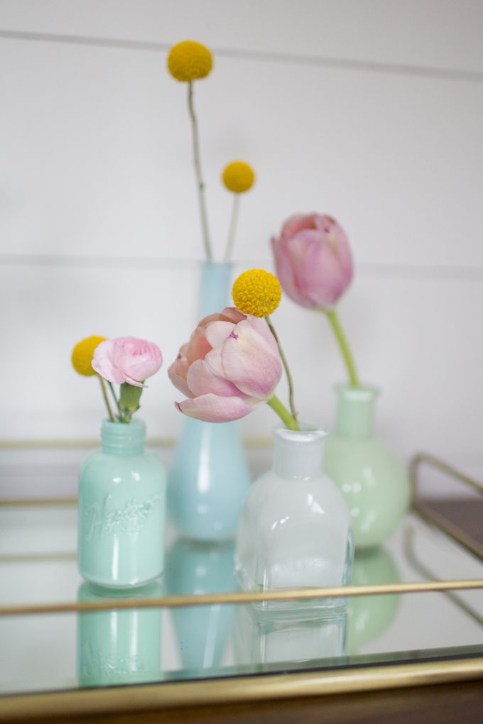 Easy Painted Bud Vases Pinterest Patience Bottle And Easy