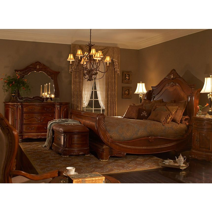 El Dorado Furniture   Cortina King Sleigh Bed