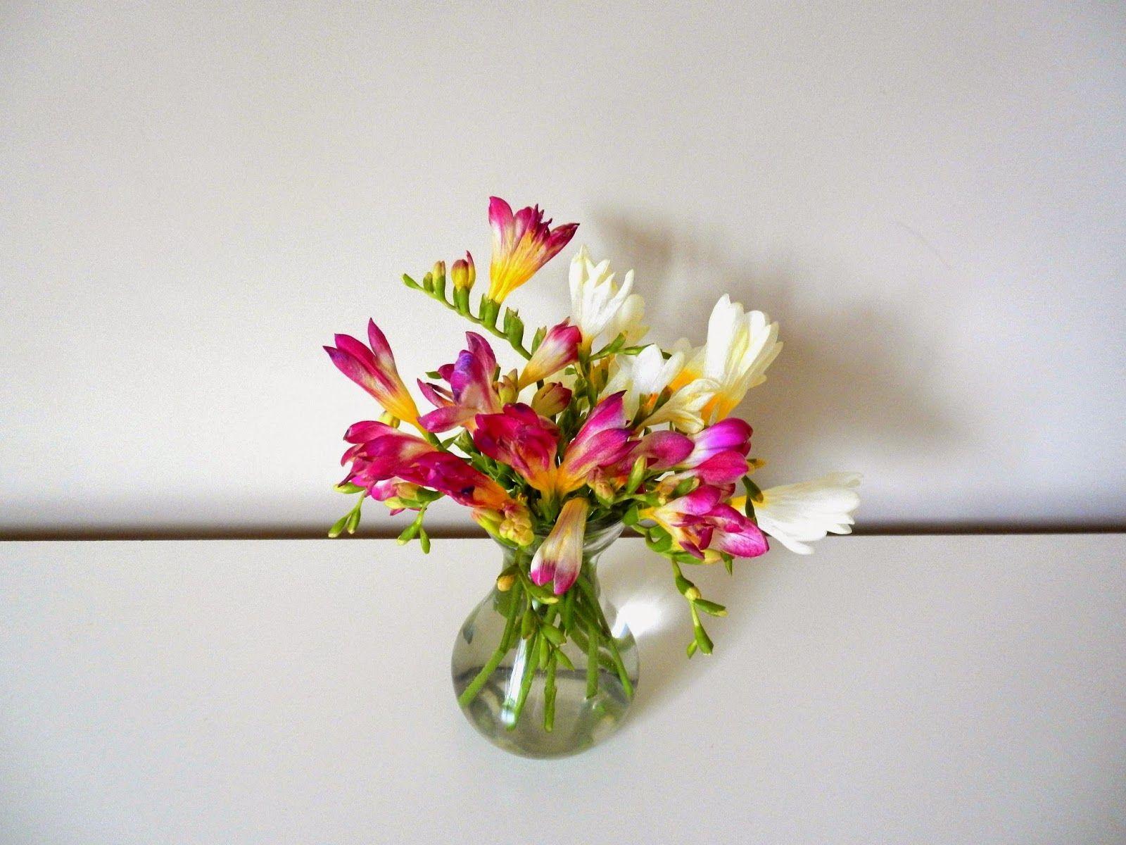 Flowerista New Freesias Freesia Glass Vase Flowers
