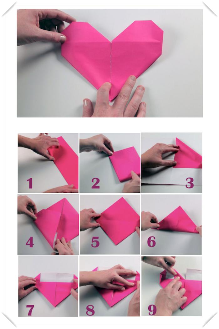 Comment Faire Une Coeur En Papier