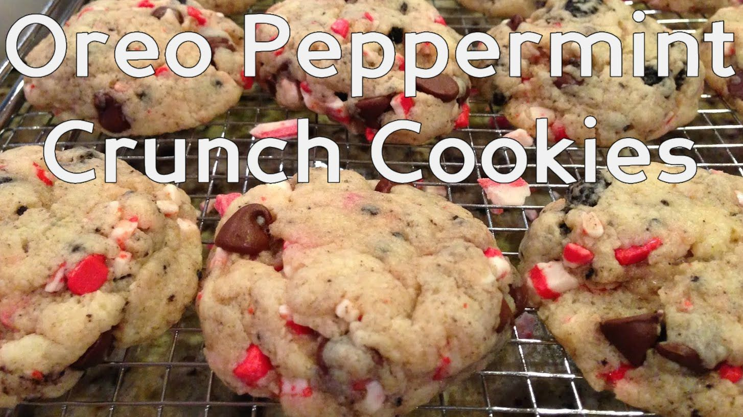Oreo Peppermint Crunch Cookies #Christmas #Cookies #Oreos #Holidays #Peppermint