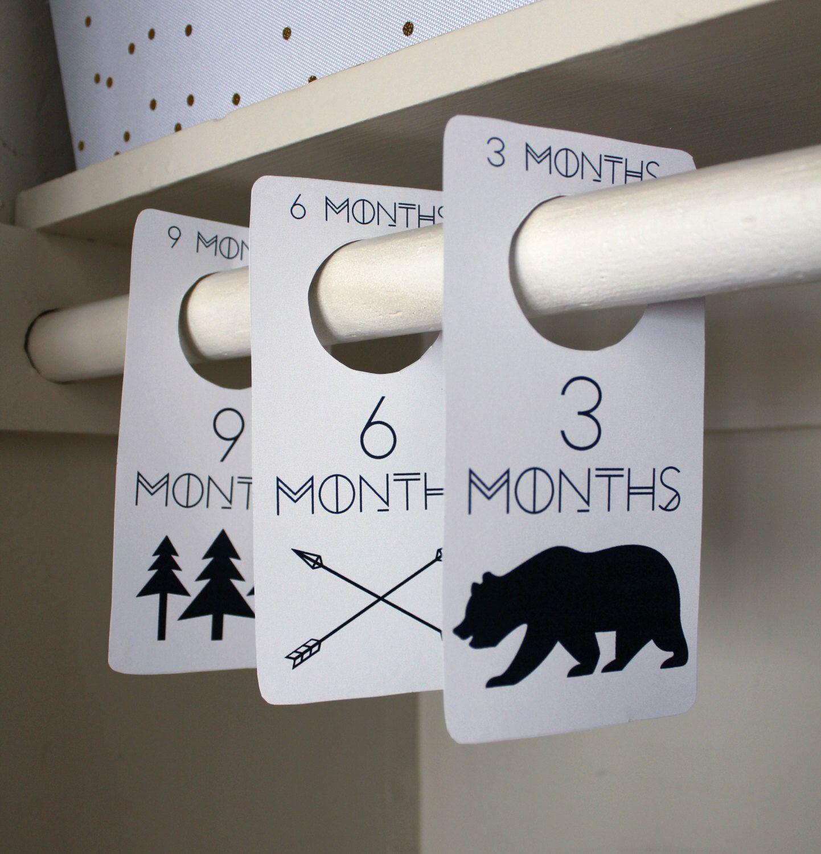 Adventure Printable Pdf Baby Nursery Closet Dividers