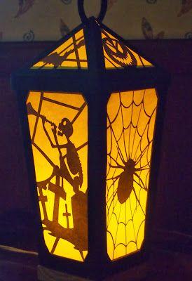 halloween lantern template  Free Halloween Paper Lantern Pattern: simply made of paper ...