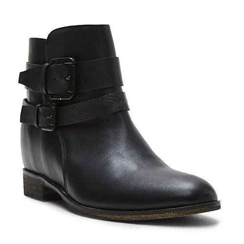 a7becb9f6e4 KARENA BLACK LEATHER women s bootie mid casual - Steve Madden ...