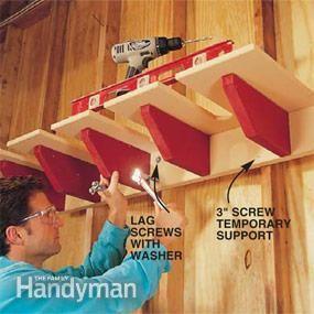 How To Build A Shovel Storage Rack
