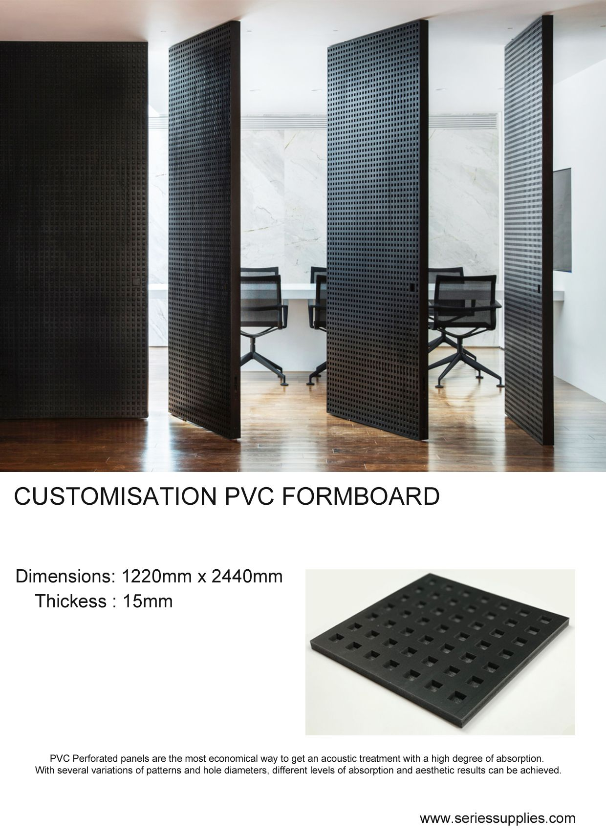 Perforated Door In 2020 Acoustic Panels Paneling Solid Wood