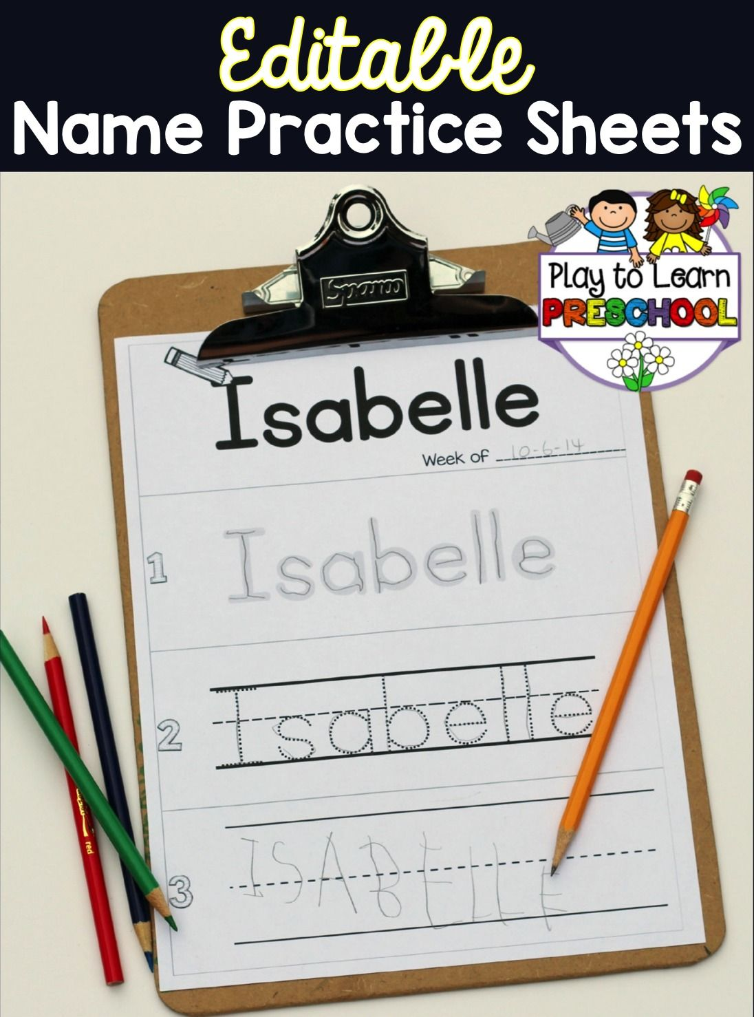 Make Your Own Set Of Name Practice Pages For Your Young