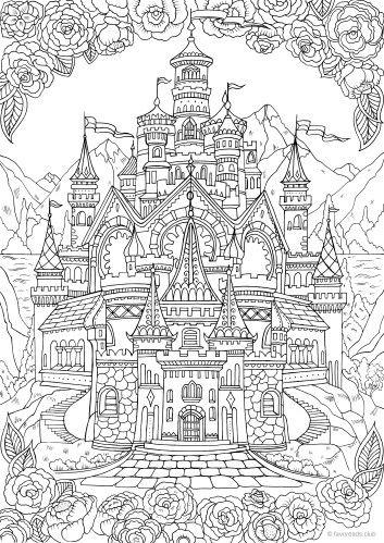 Castle   COLOR   Pinterest   Colores, Páginas para colorear and Pintar