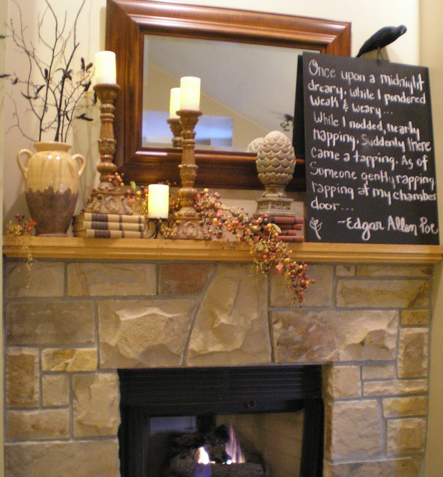 Wip Blog Autumn Mantel Decor Ideas Fireplace Mantel Decor Fireplace Mantels Fireplace Decor