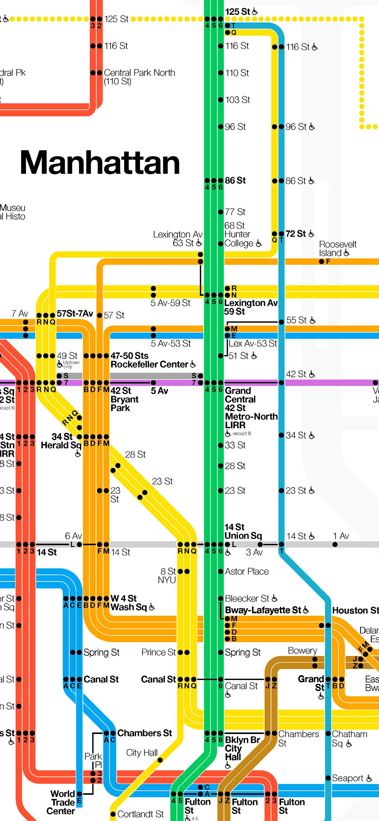 Massimo Vignelli 1972 Nyc Subway Map.Massimo Vignelli New York City Subway Map 1972 Map Subway Map