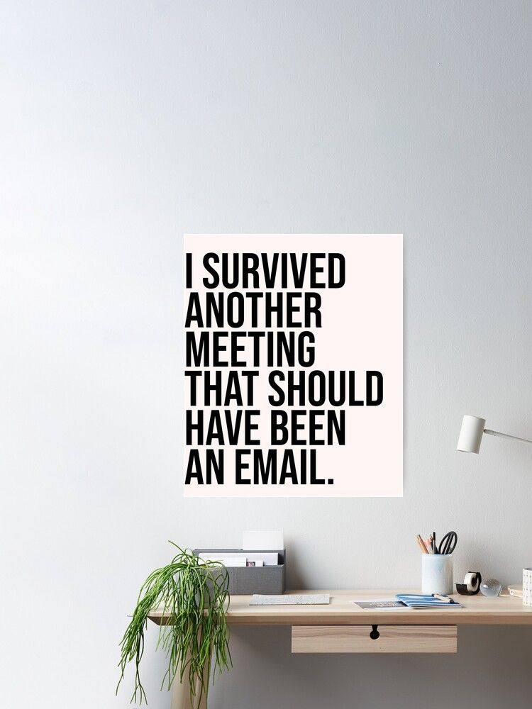 I Survived Another Meeting That Should Have Been An Email Poster