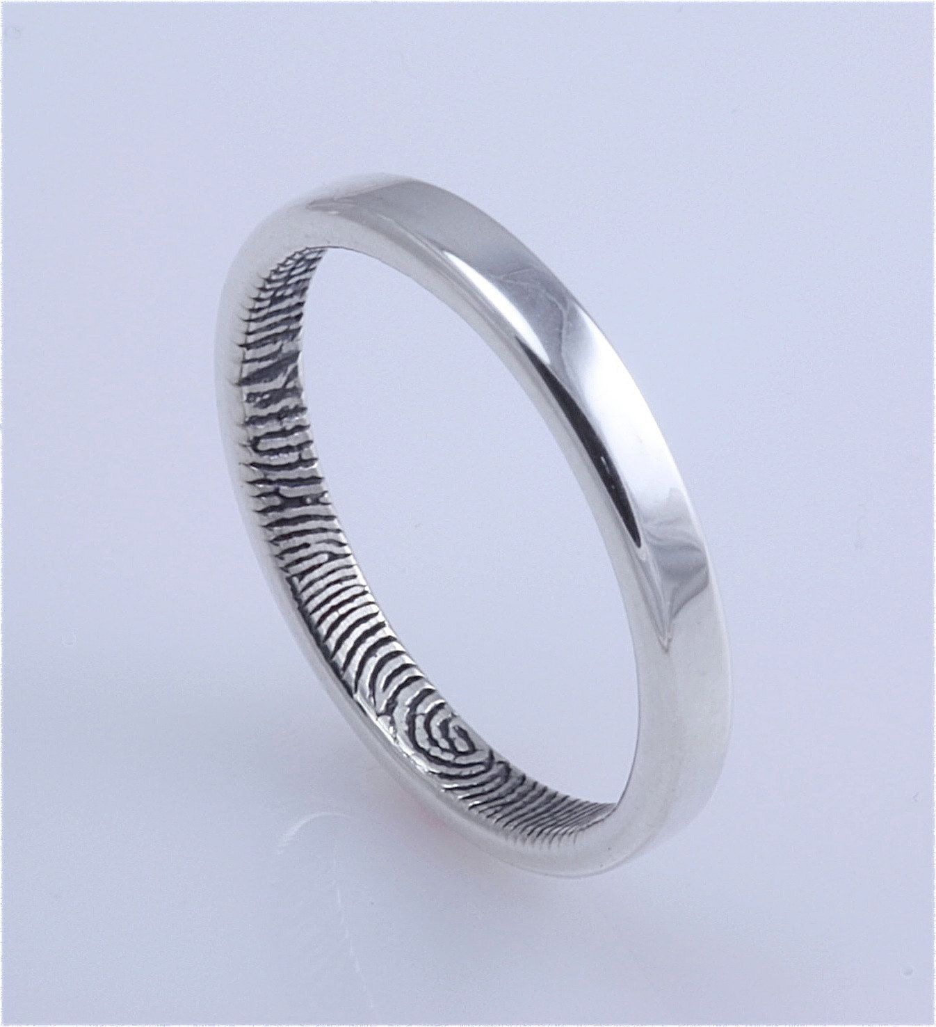 nwexodgxmjg your any weddings they for finger band print engraved titanium set jewelry personalised itm wedding customized of occasion with and great from ring silver are becoming shape choice rings fast fingerprint the dome
