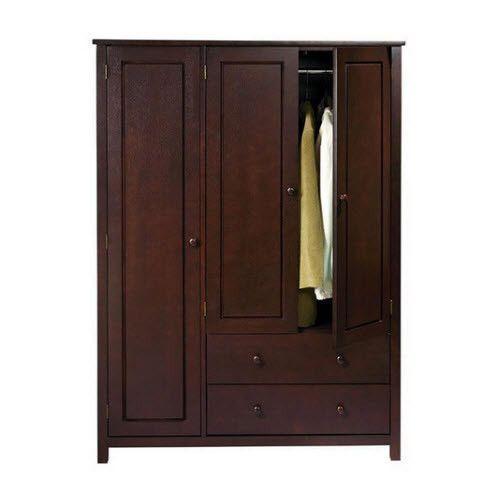 Chifferobe Wardrobe Portable Closet Armoire Clothing Storage Guest Bedroom  Wood