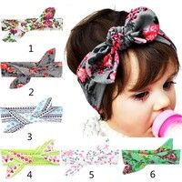 Wish | Baby Rabbit Ears Headband Solid Color Girl Children Infant Baby Hairband Christmas Headwears Accessories