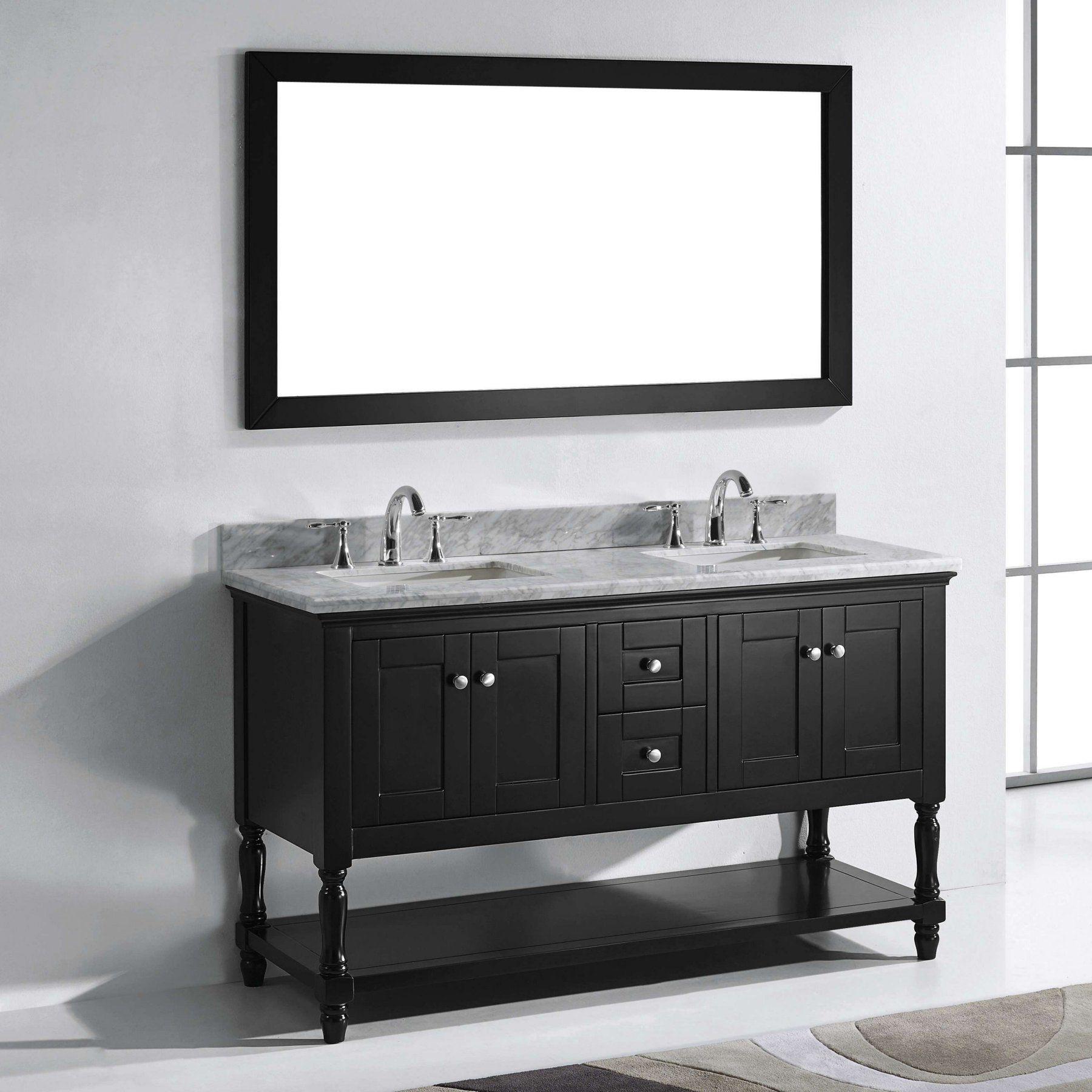 Double Bathroom Vanity with Square Sink Virtu