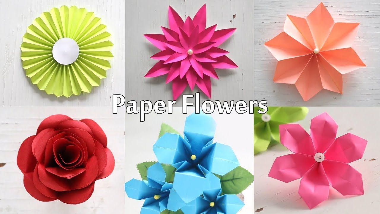 6 Easy Paper Flowers Flower Making Diy Easy Paper Flowers