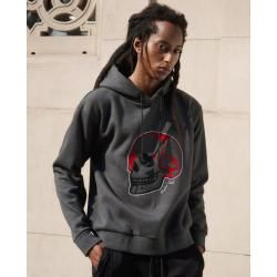 The Kooples - Embroidered grey neoprene sweatshirt - Damenthekooples.com #rockandrolloutfits