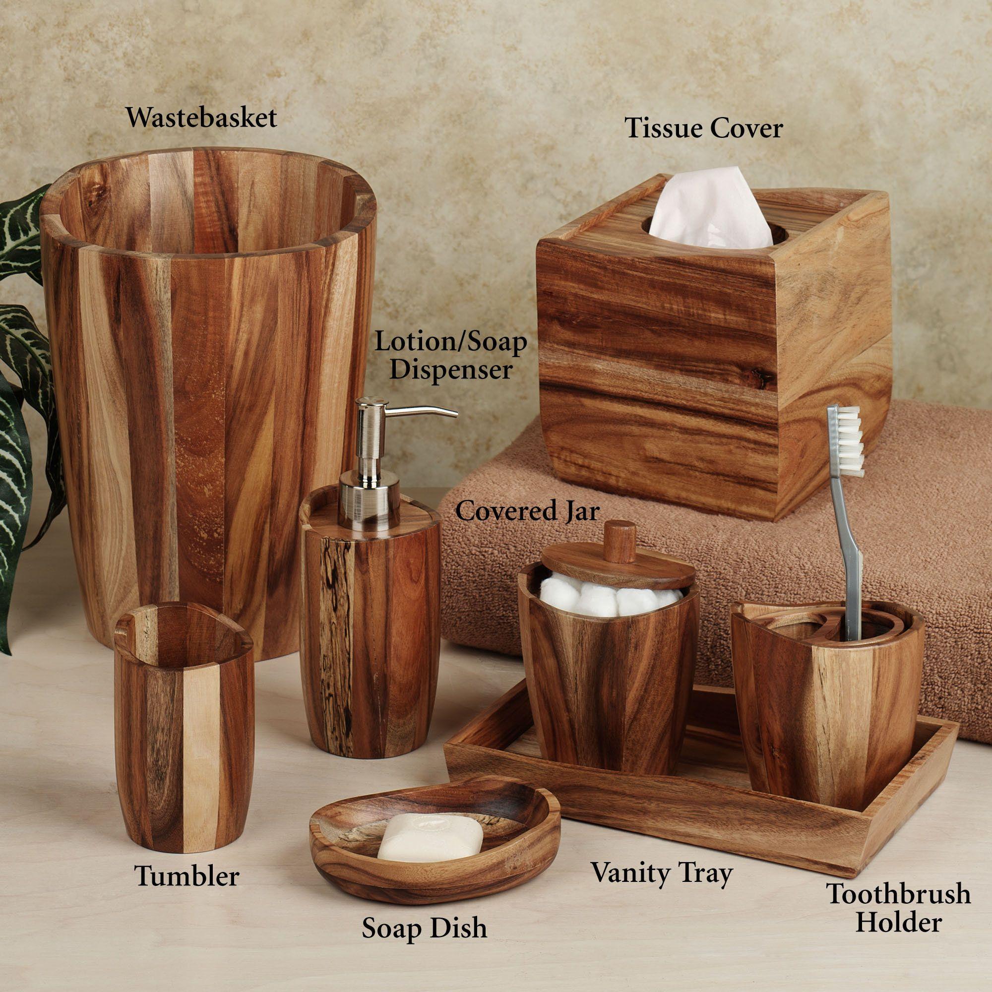 Wood Bathroom Accessories Google Search Bathroom Pinterest