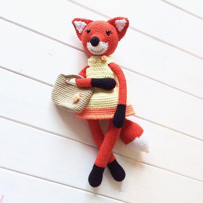 señora zorro amigurumi crochet patrón | Croche | Pinterest | La dama ...