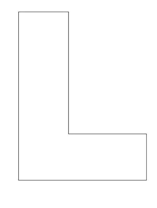 Alphabet Letter L Template Coloring Pages
