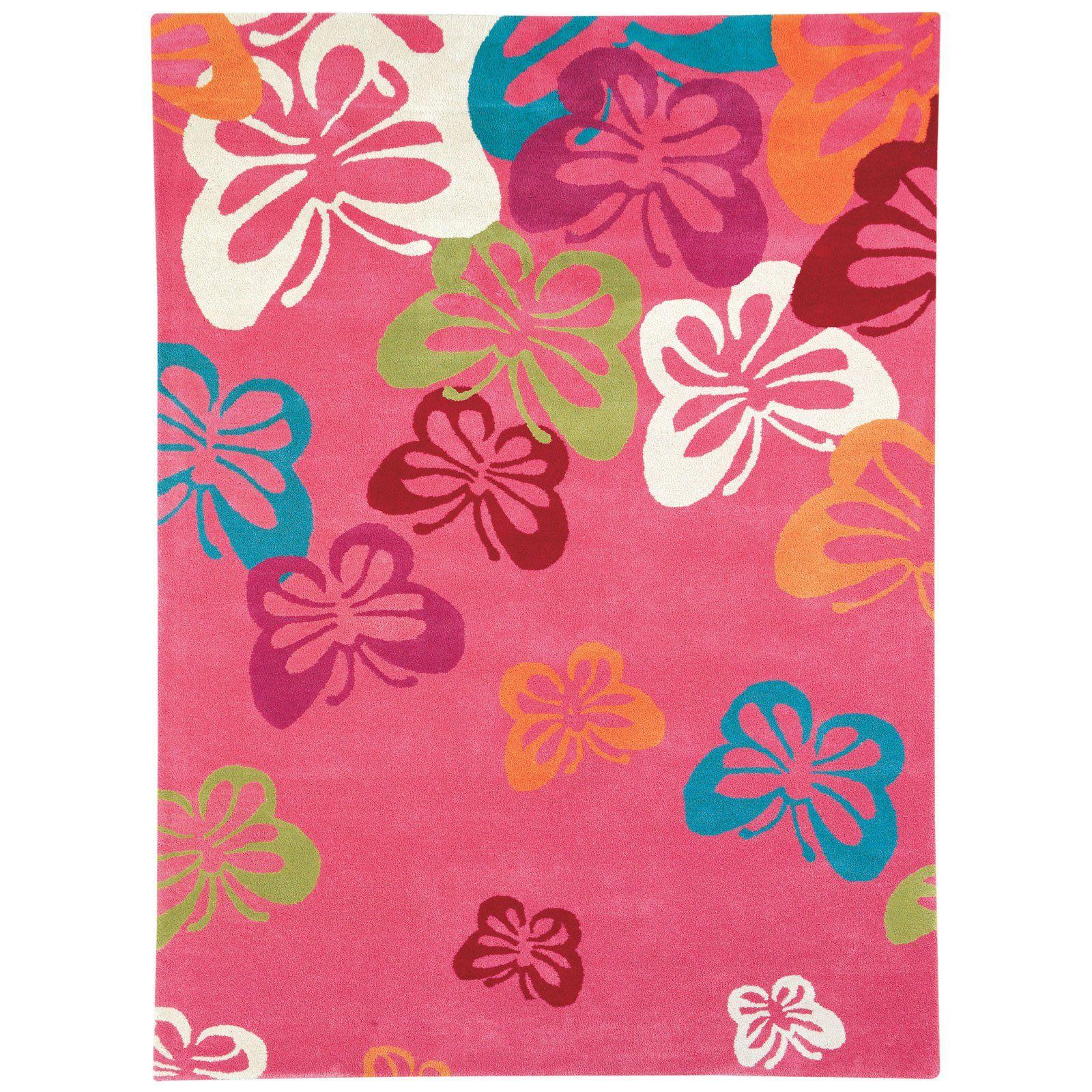 dynamic rugs fantasia butterfly light pink 1703 area rug - nursery