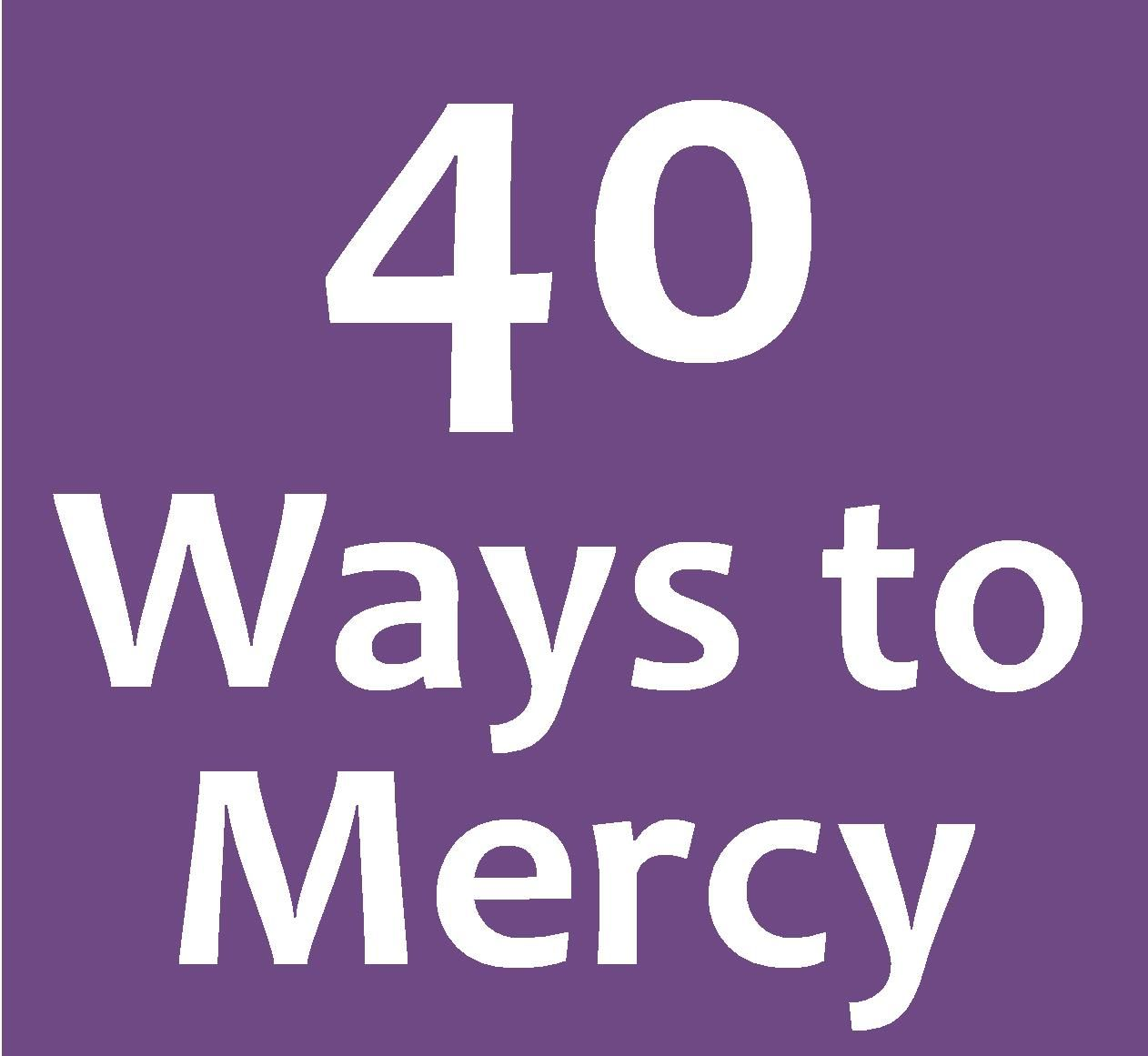 40 Ways to Mercy - A Lenten Journey for the Extraordinary Jubilee Year of Mercy   Catholic Lent calendar