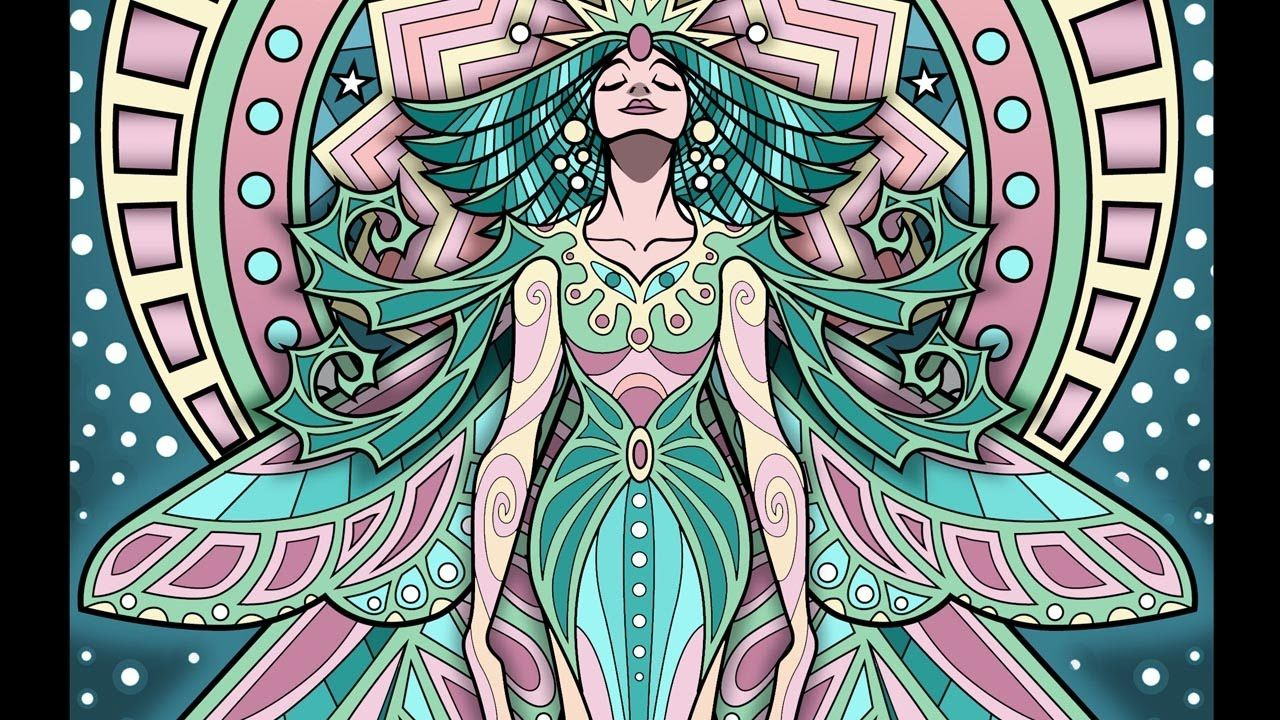 Lost Lumina 8 Timelapse Coloring Book Speed Art By Cristina McAllister