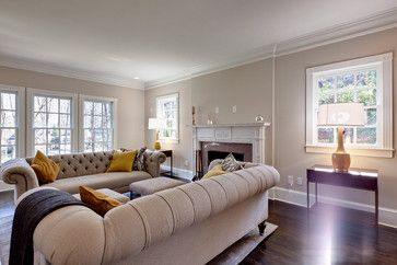 Long Narrow Living Room With A Chesterfield Sofa Design Ideas Pictures Remodel And Decor