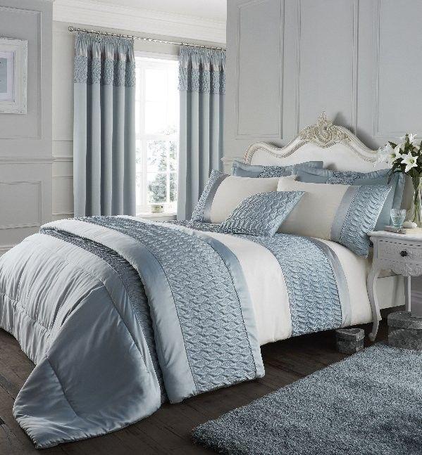 Luxury Satin Duck Egg Duvet Cover Set Super King Size Duvet Sets Satin Bedding Duvet Bedding