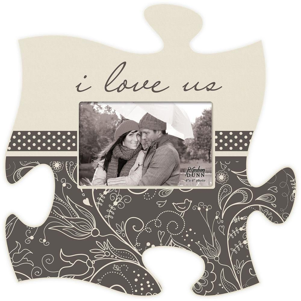 I Love Us Puzzle Photo Frame Puzzle piece picture frames
