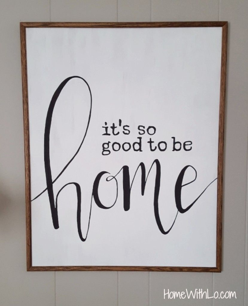 A Step By Tutorial On How To Make Your Own DIY Decorative Sign Available At Homewithlo