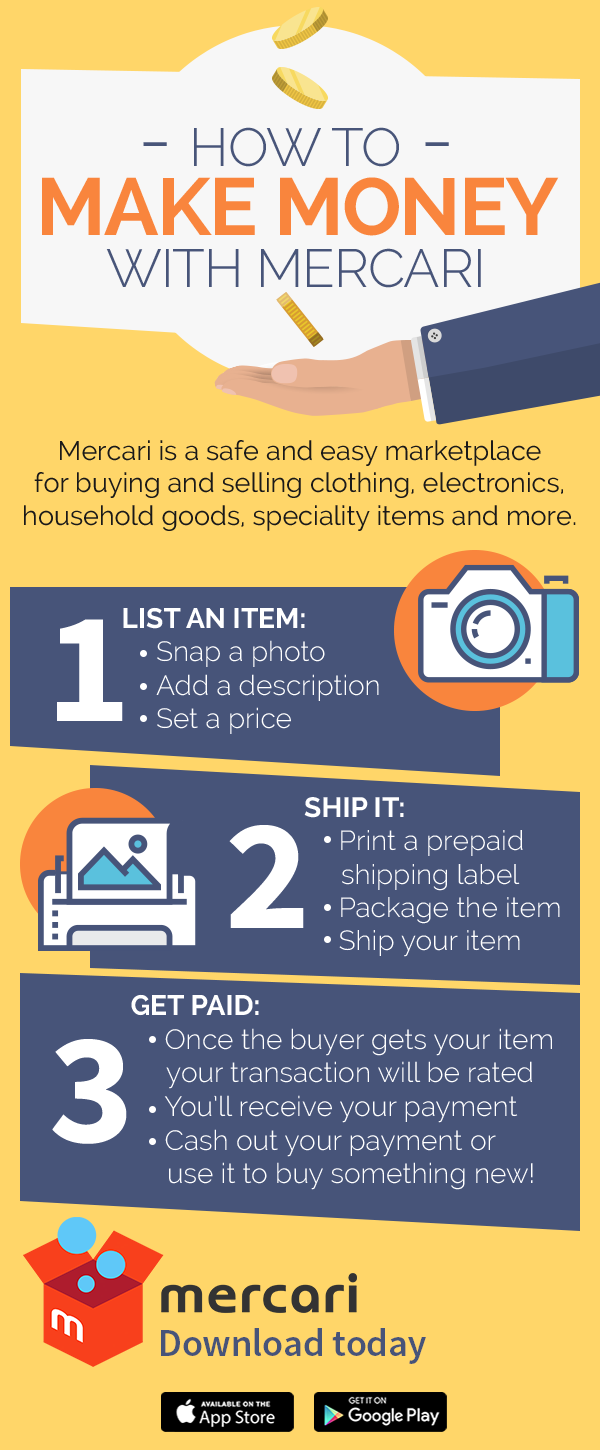 Mercari Is A Safe And Easy Mobile Marketplace For Buying Or Selling Clothing Bags Shoes Cosmetics Jewelry Printing Labels Selling Clothes Selling On Ebay