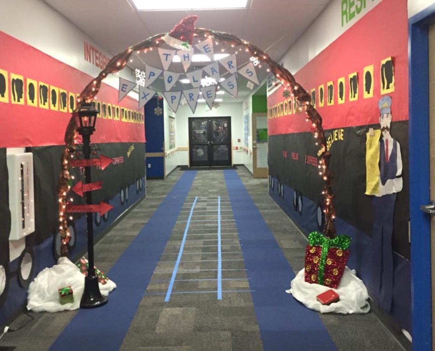 Polar Express In School Hallway Hallwayideas