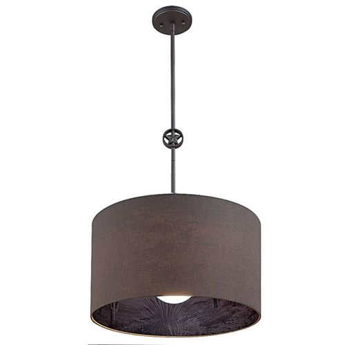 Portfolio Bleeker Street Island Light with Natural Linen Shade $99