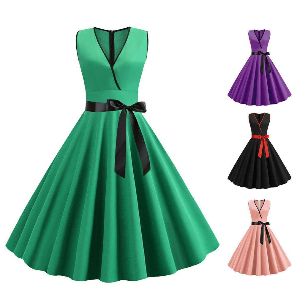 frauen kleid damen cocktail a line kleid sommerkleid mode