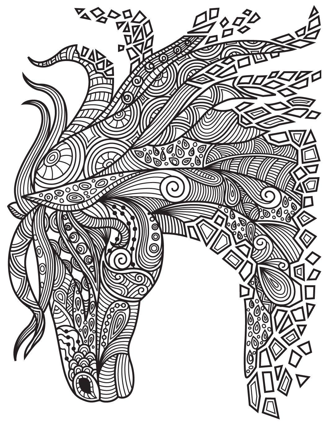 Zen coloring books for adults app - Horses Colorish Coloring Book App For Adults Mandala Relax By Goodsofttech