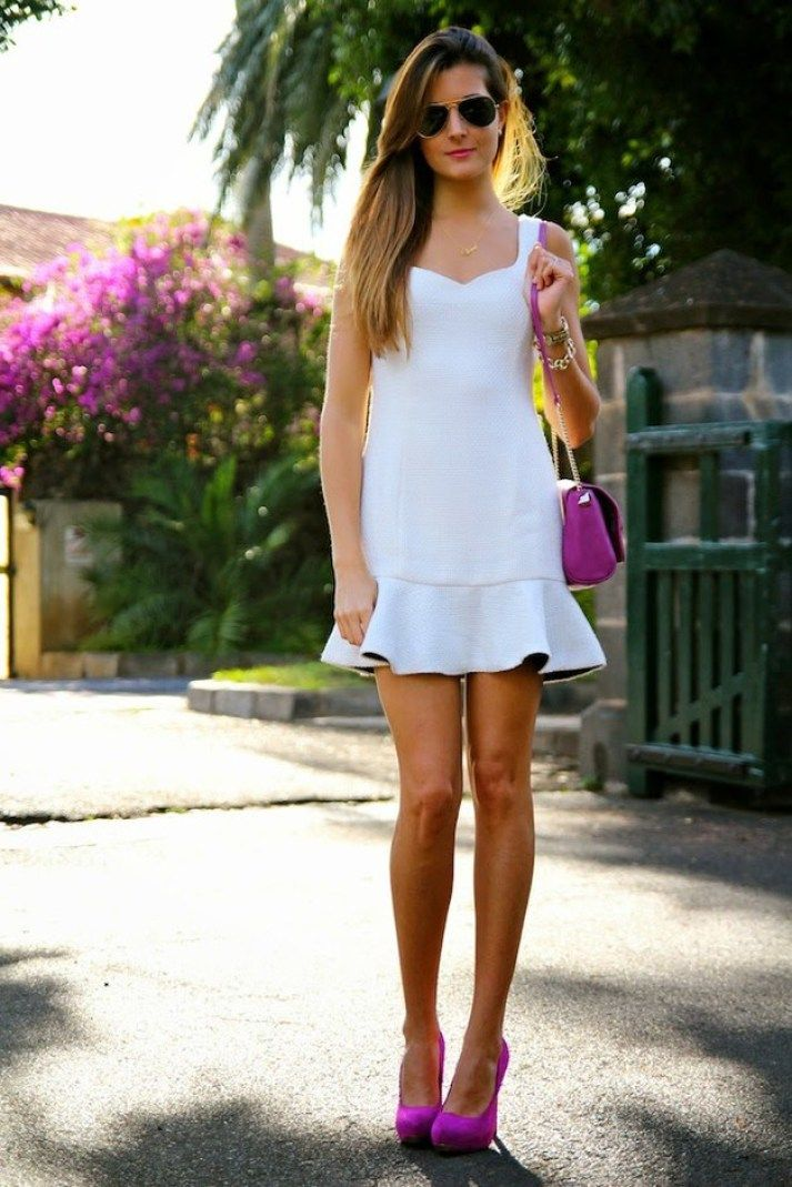 Pretty White Dress Outfit