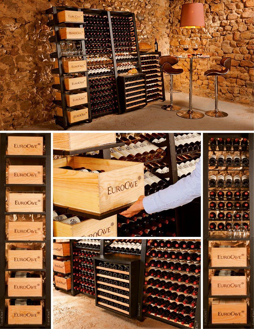 modulosteel modules de rangement pour le vin cave pinterest wine storage wine cellar et. Black Bedroom Furniture Sets. Home Design Ideas