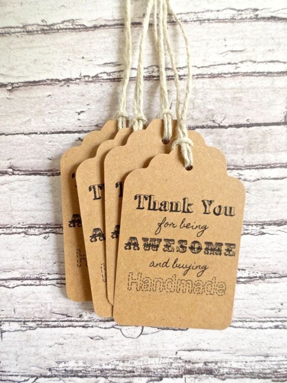 Thank You Gift Tags Hang Tags Because Buying By MarksOnMyHeart