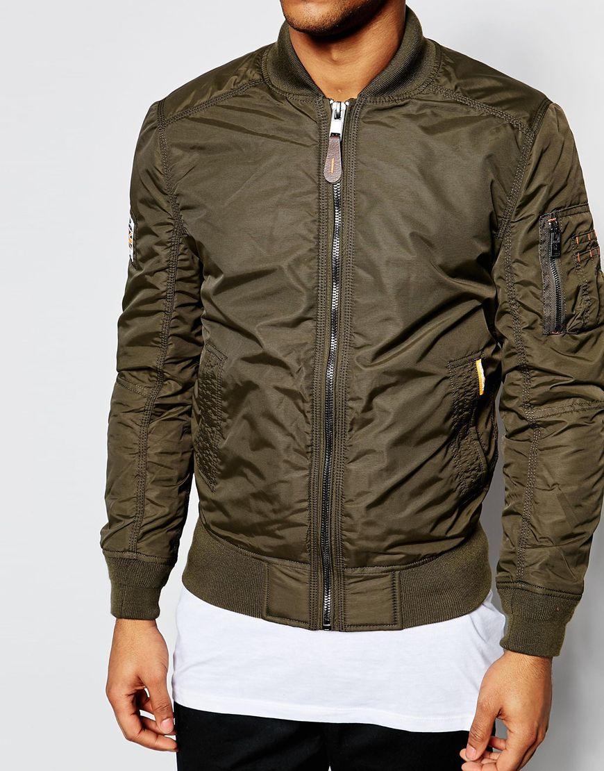 Image 3 of Superdry Classic Bomber Jacket | outwear details ...