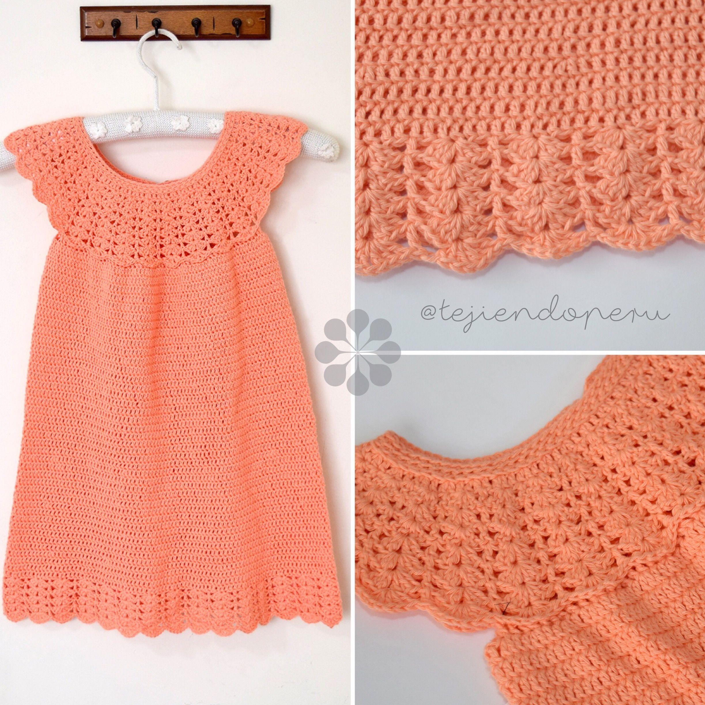4428ea7f68f5 Resultado de imagen para vestido para bebe a crochet paso a paso ...