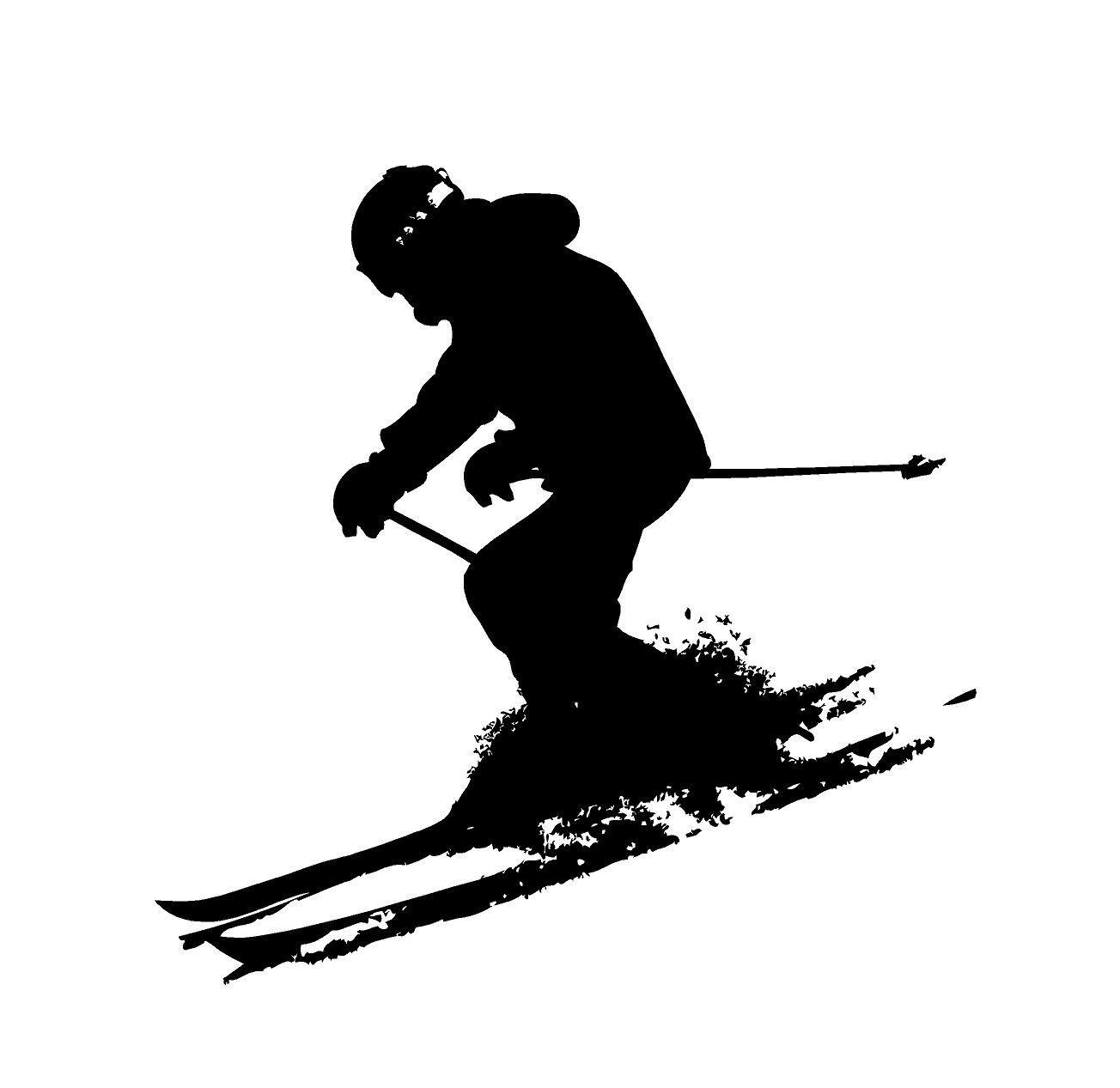 Snow Skier Decal Snow Skiing Decal Snow Ski Decal Snow Skier Car Decals Snow Skier Car Decal Down Hill Skier Snow Sk Custom Vinyl Decal Custom Vinyl Usmc Decal [ 1267 x 1304 Pixel ]