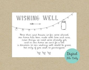 Wedding Wishing Well Card Design Rustic Mason Jar Lights Instantly